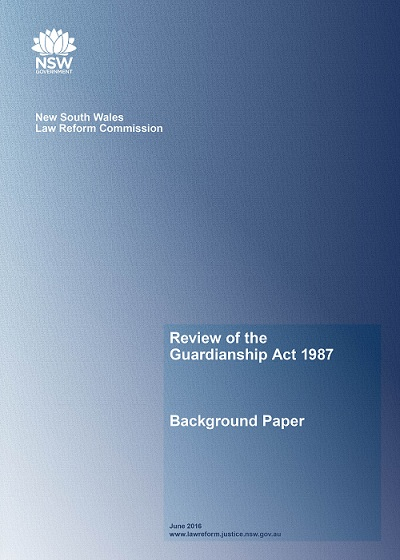 Image of the Background Paper: Review of the Guardianship Act 1987:​